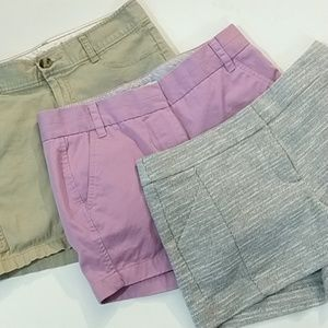J crew Loft Dockers sz 4 shorts bundle (0288)
